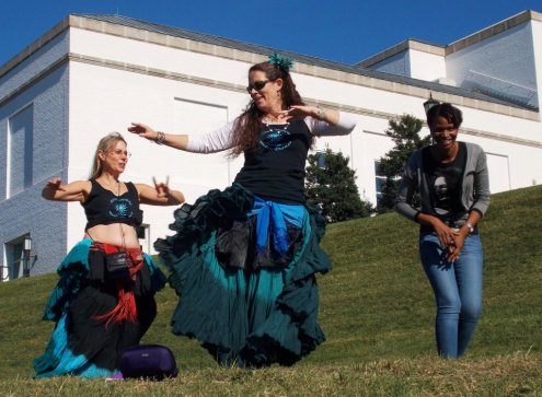 Ajna Tribal participates in international ATS Flash Mob at the Richmond Folk Festival